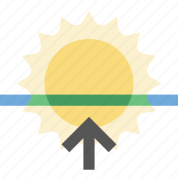 day, morning, sunrise, weather icon