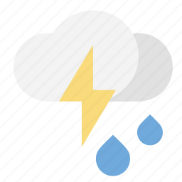 lightnin, rain, thunderstorm, weather icon