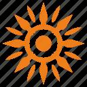 bright, flame, planet, shine, sun