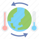 thermometer, change, climate, hot, cold, ozone, earth