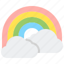 clouds, forecast, gay, rainbow, weather