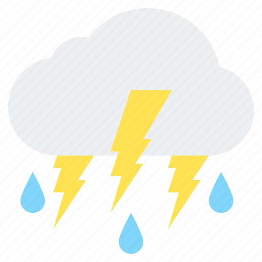 Cloud, flash, rain, storm, thunder, thunderstorm icon - Download on Iconfinder