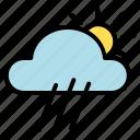cloud, rainy, weather icon