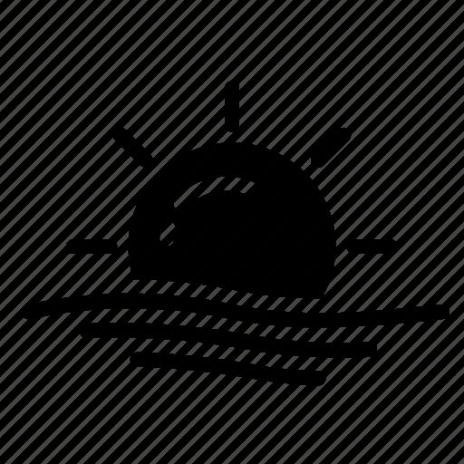 sun, wave icon