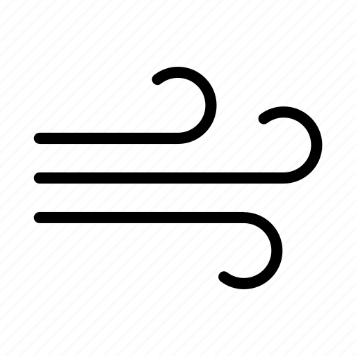 weather, wind icon