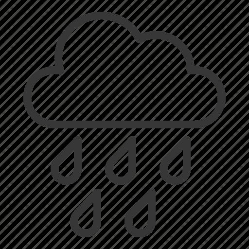 raindrop, rainy, shower, to rain, weather icon