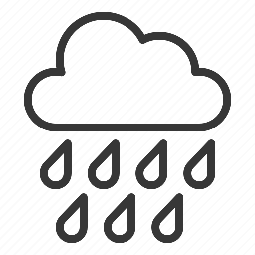 Cloud, rainy, to rain, weather icon - Download on Iconfinder