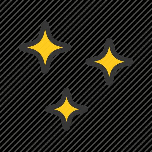 night, sparkle, star, weather icon