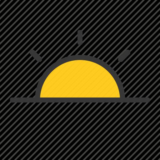 sun, sunrise, sunset, weather icon