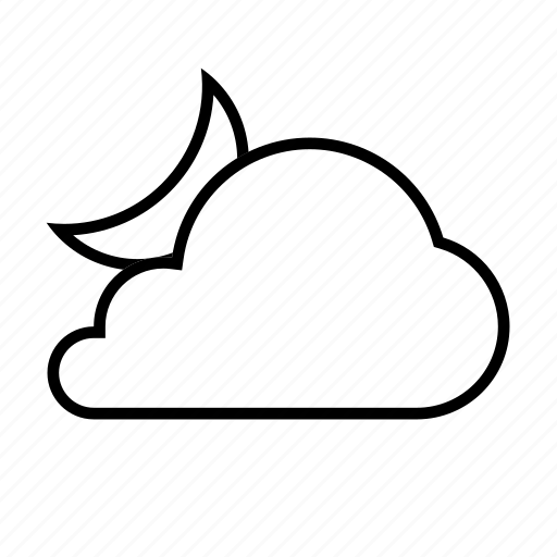 cloud, cloudy, forcast, night, weather icon