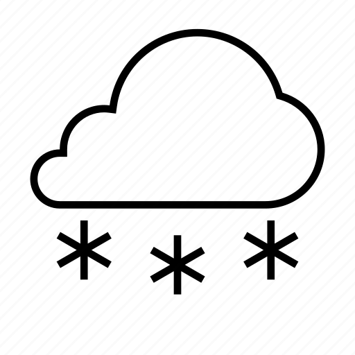 cloud, cloudy, forcast, snow, weather icon