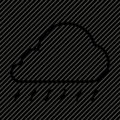 cloud, cloudy, forcast, rain, weather icon