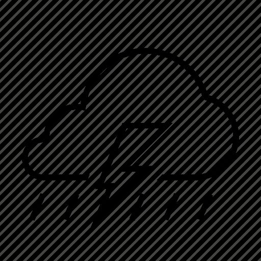 cloud, forcast, rain, thunder, weather icon