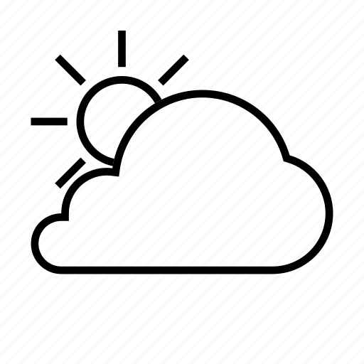 cloud, cloudy, day, forcast, sun, weather icon