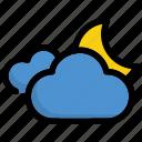 atmospheric, moon, night, weather icon