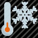 christmas, freezing, snow, weather icon