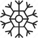 cold, snowflake, weather, winter icon