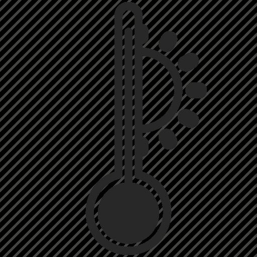 summer, sun, thermometer, warm icon