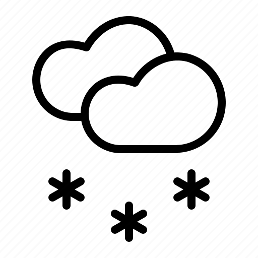 cloud, cloudy, forecast, snow, snowfall, weather, winter icon