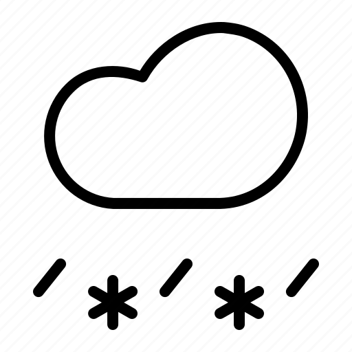 cloud, forecast, rain, sleet, snow, snowfall, weather icon