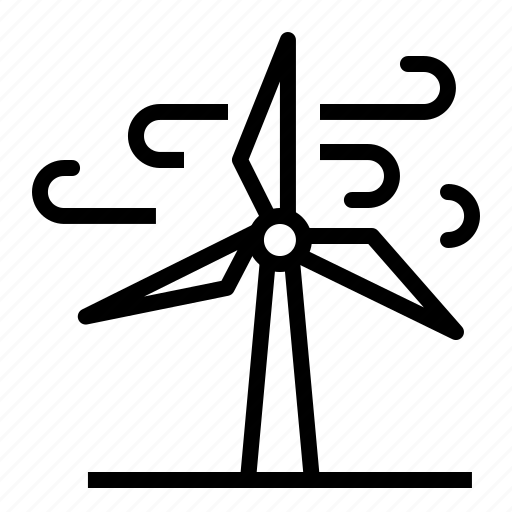 electricity, energy, green, power, turbine, wind, windmill icon