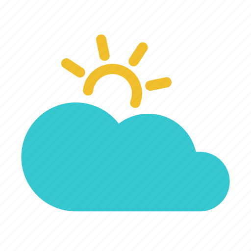 climate, cloudy, forecast, partly cloudy, sun, sunny, weather icon