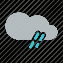 cloud, drizzle, heavy rain, rain, shower, weather icon