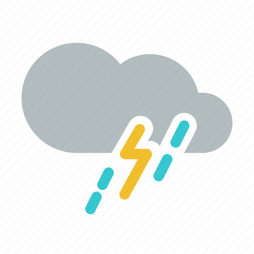 lightning, mix rainfall, rain, severe thunderstorm, storm, thunderstorm, weather icon