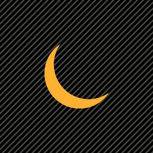 eid, eid moon, half moon, moon, twilight, weather icon
