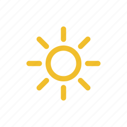 hot, mostly sunny, sun, sunny, temperature, weather icon