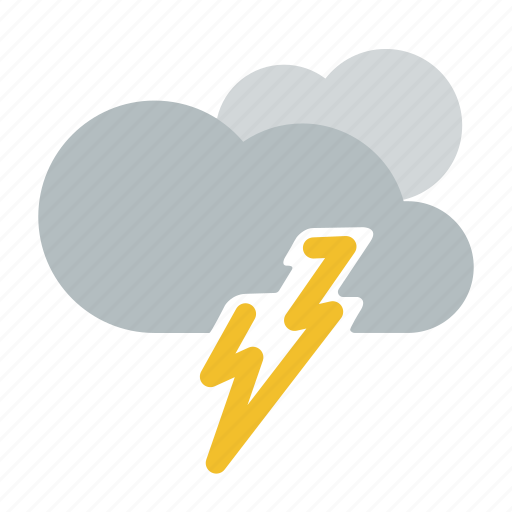 lightning, night, rain, storm, thunderstorm, weather icon