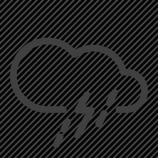 lightning, mix rainfall, rain, severe thunderstorm, thunder, thunderstorm, weather icon