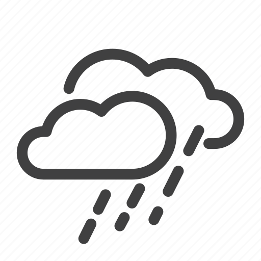climate, heavy rain, mix rainfall, rain, scattered shower, weather icon