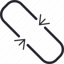 broken, chain, disconnect, link, unlink, unlinked icon