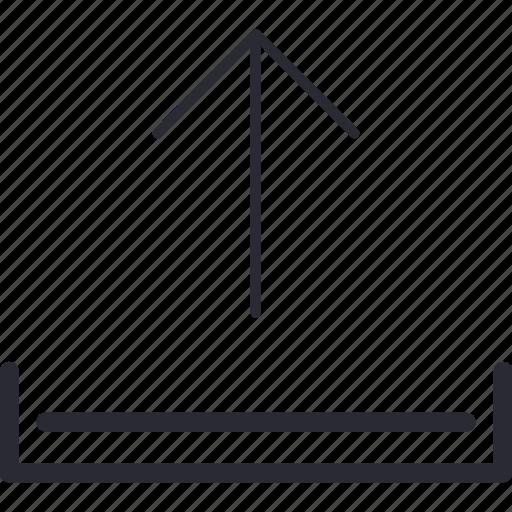 arrow, disk, expert, storage, up, upload, uploading icon