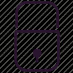 block, key, lock, locked, password, security, unlock icon