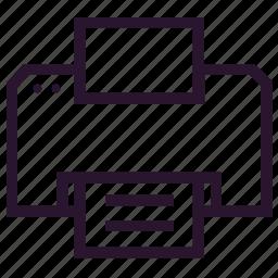 document, file, print, printer, seo, web icon