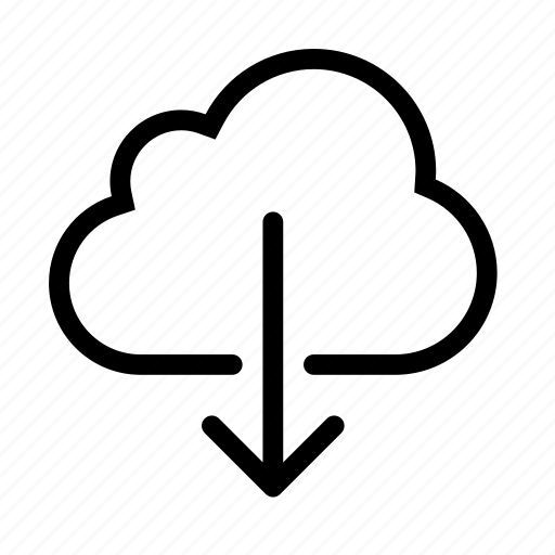 cloud, down, download, file, save icon