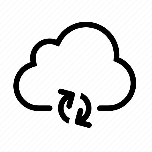 arrow, cloud, refresh, sync, update icon
