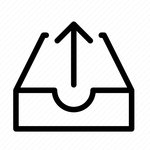 arrow, cloud, drawer, inside, up icon