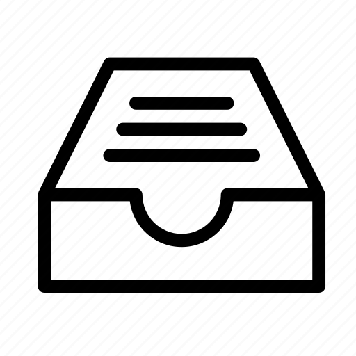 document, drawer, extension, file, format icon