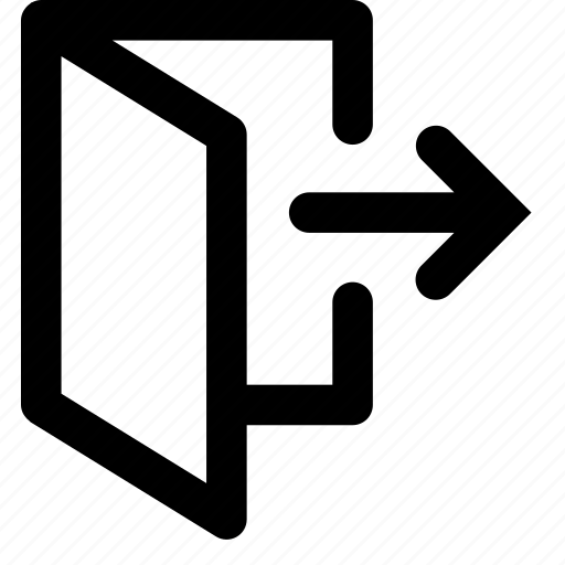 Door, exit, logout icon - Download on Iconfinder