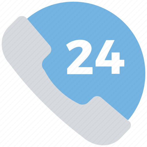 24 hours, call, phone, phone 24, service, support icon