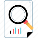 analytics, find, search, web icon