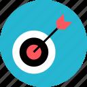 arrow, goal, point, target icon