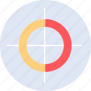 data, graphic, info, target icon