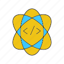 atom, research, science icon