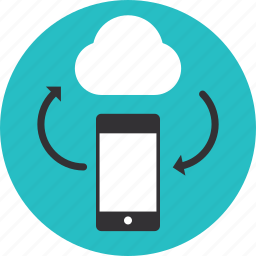 cloud, communication, computing, connection, global, information, internet, mobile, network, networking, smartphone, sync, synchronization icon