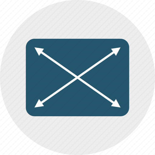 adjustable, design, fullscreen, resize, responsive, scale, size icon