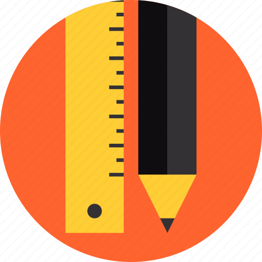 drawing, equipment, graphic, illustration, pencil, ruler, sketching, tools icon